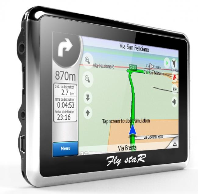 GPS навигация Fly StaR E8 - 5 инча + 4GB - КОЛА КАМИОН