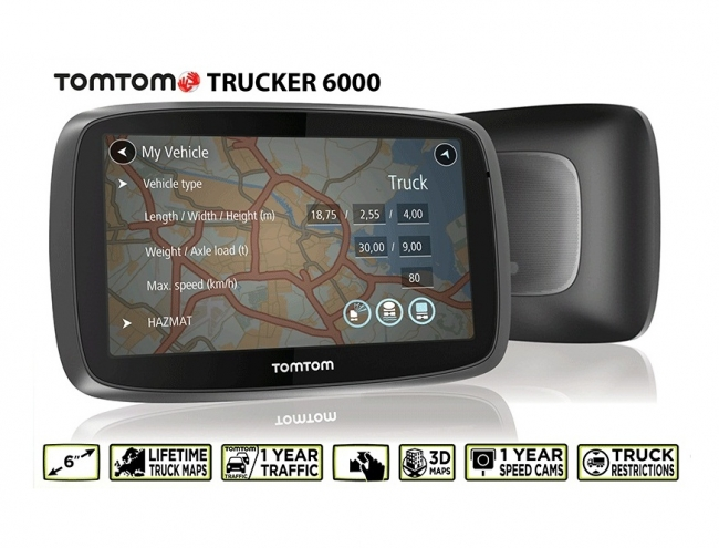 gps tomtom trucker 6000 live gps. Black Bedroom Furniture Sets. Home Design Ideas