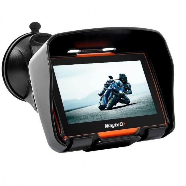 GPS за мотоциклет, АТВ  WayteQ xRider 4.3 инча, 800mhz, 256MB RAM, Bluetooth