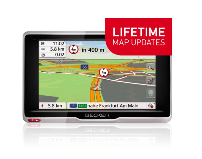 GPS навигация за камиони Becker transit 5 LMU, BG+EU + Доживотна актуализация