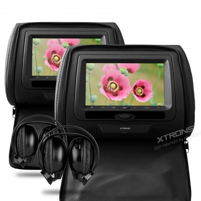 Монитори  за подглавници 2бр. HD705DB, DVD, USB, SD, 7 инча