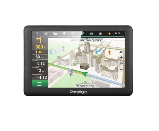 GPS навигация за кола Prestigio GEOVISION 5066 EU - 800MHZ, 4GB, 128MB RAM