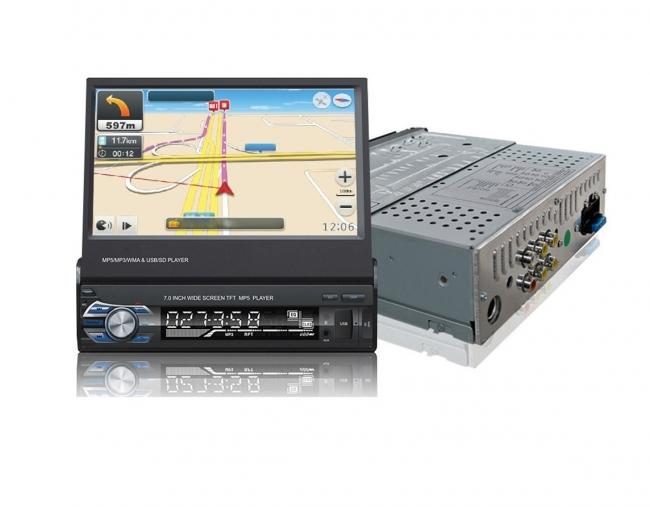 Единичен универсален дин AT179601 MP5, GPS, SD slot, Bluetooth, 7 инча