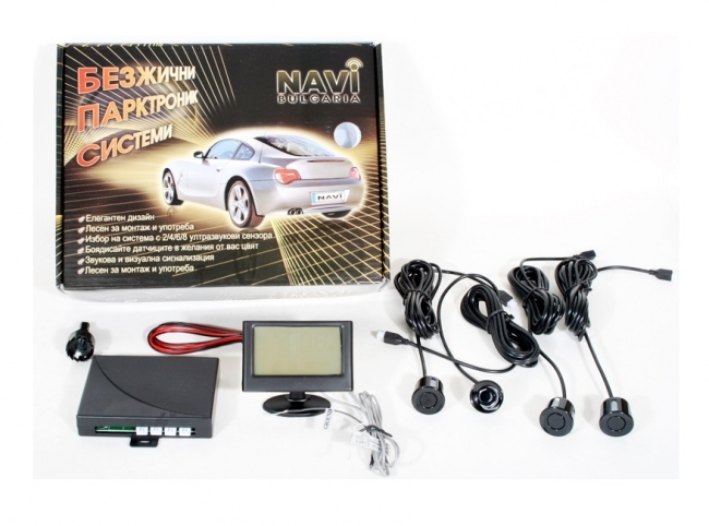 Парктроник система с LCD дисплей, с 4 или 8 датчика