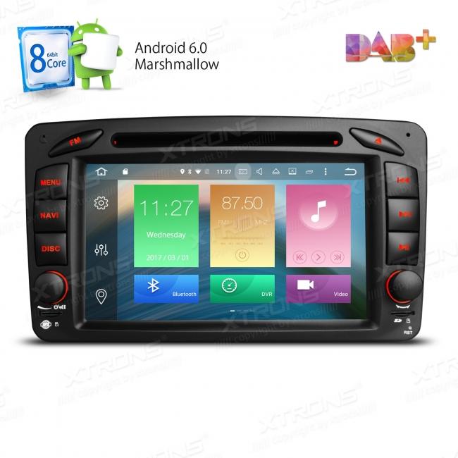 Навигация двоен дин за Mercedes W203 W209 W463 с Android 6.0 PB76M203AP, GPS, WiFi, 7 инча