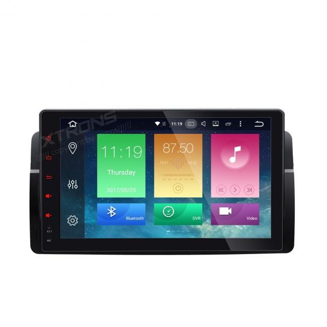 Навигация двоен дин за BMW E46, ROVER с Android 6.0 PB9646BAPL, GPS, WiFi, 7 инча