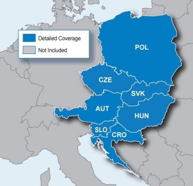 """Карта за Garmin City Navigator Europe NT – Източна Европа """"Големите 5"""""""