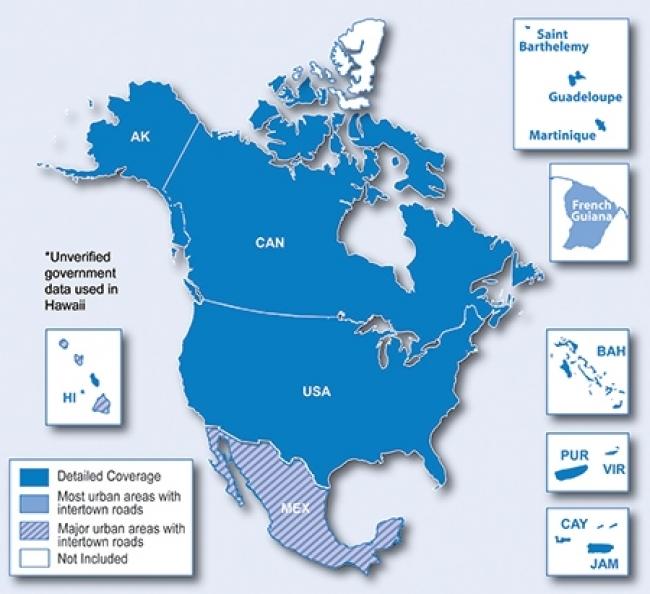 Карта за Garmin City Navigator Северна Америка NT