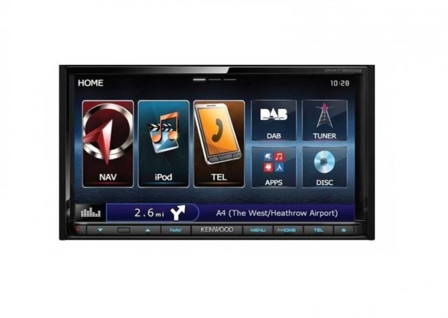 Универсална мултимедия 7 инча Kenwood DNX7150DAB, GPS, DAB радио, Bluetooth