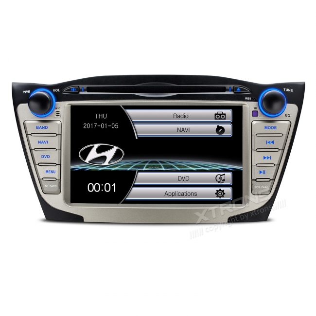 Навигация двоен дин за Hyundai IX35 (09-15) PF7135HS, WinCe, GPS, 7 инча