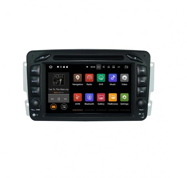 Вградена навигация за Mercedes W203 W209 W463 с Android 7.1 BZ0702 , GPS, DVD, 7 инча