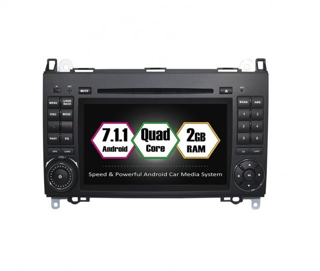 Вградена навигация за Mercedes W169  W245 с Android 7.1 BZ0703 , GPS, DVD, 7 инча