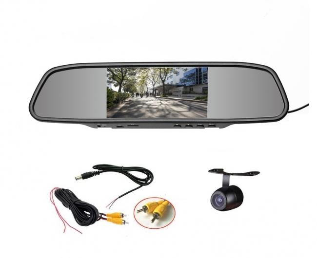 Mp5 Handsfree Огледало с монитор 4.3 инча АТ BTM-4301A + камера за паркиране