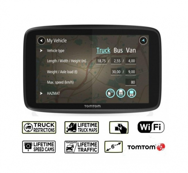 TOMTOM GO PROFESSIONAL 6250 LM  WIFI GPS навигация за камион