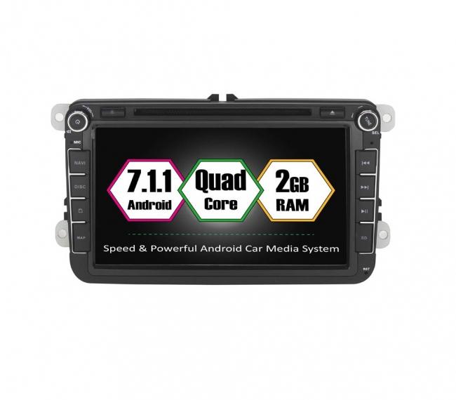 Навигация двоен дин за VW SEAT SKODA с Android 7.1 VW0803 , GPS, DVD, 7 инча