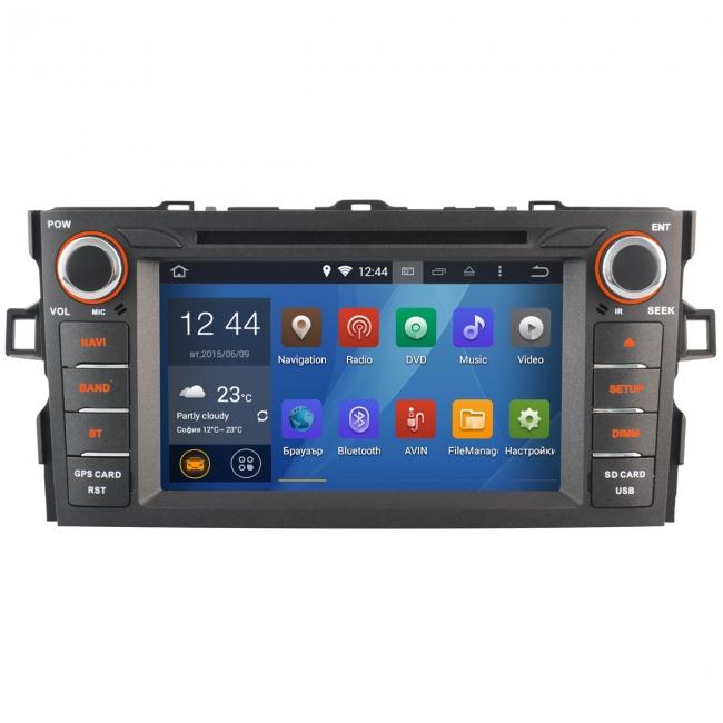 Навигация двоен дин за Toyota Auris 08-11 MKD-T744 c Android 7.1 GPS, 4LTE, 7 инча