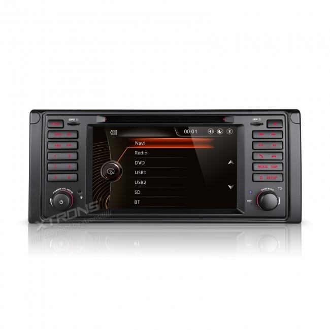 Навигация двоен дин за BMW E39 BM0705W GPS, DVD, WinCE, 7 инча
