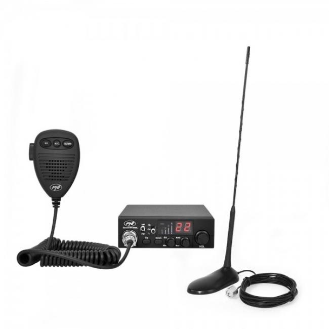 Комплект радиостанция CB PNI ESCORT HP 8000L ASQ + Антена CB PNI Extra 45 с магнит