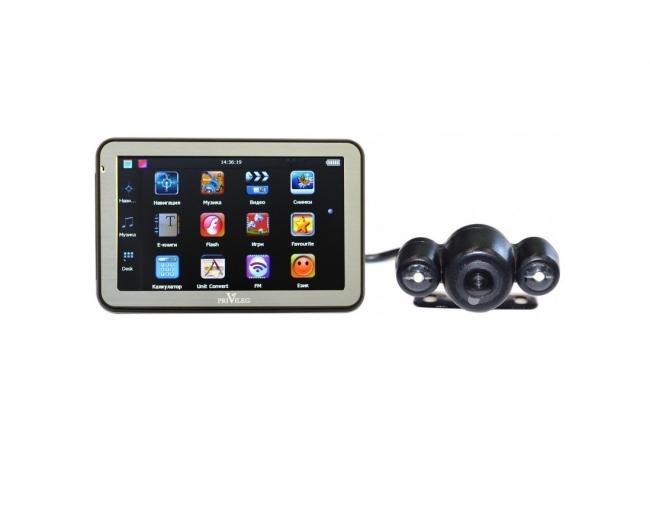 Навигация с камера за паркиране PRIVILEG 50MT_CAM и BLUETOOTH