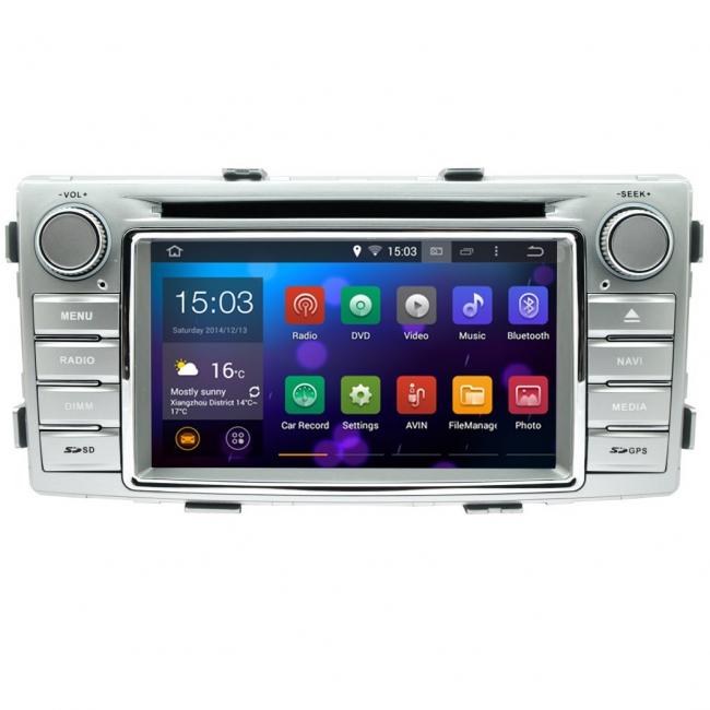 Навигация двоен дин за Toyota Hilux след 2012 N TY10A с Android GPS, DVD, 7 инча
