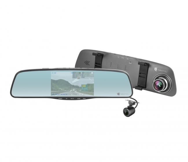 Видеорегистратор огледало NAVITEL MR250 5 инча с 2 камери