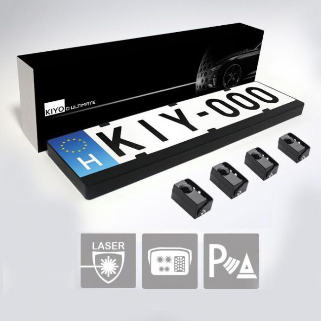 KIYO D Ultimate активен лазерен детектор с рамка за номера и 4 сензора