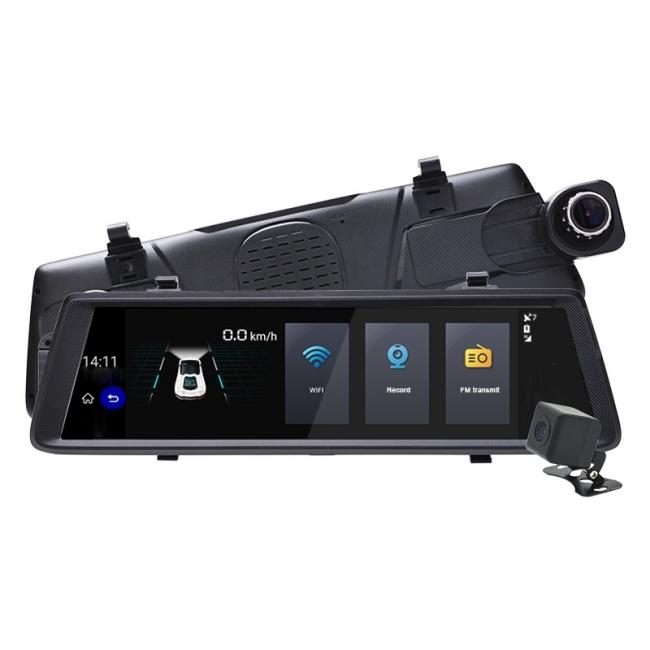 6в1 Огледало за кола LEOS V6 10 инча GPS + Таблет + DVR + 3G + КАМЕРА ЗА ПАРКИРАНЕ