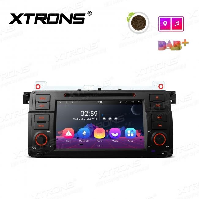 Навигация двоен дин за BMW E46, Android 8.1 PR7846B, WIFI, GPS, 7 инча