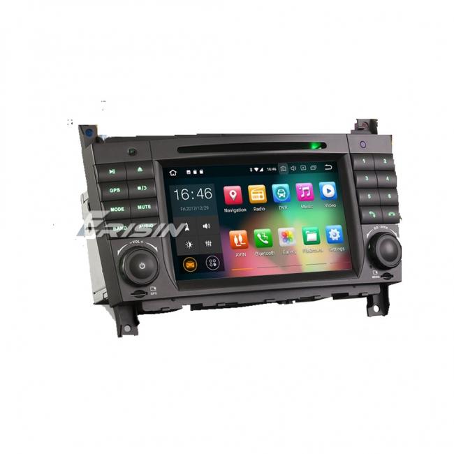 Навигация двоен дин за Mercedes W203 W209 с Android 8.0 ES5869C, GPS, WiFi, 7 инча