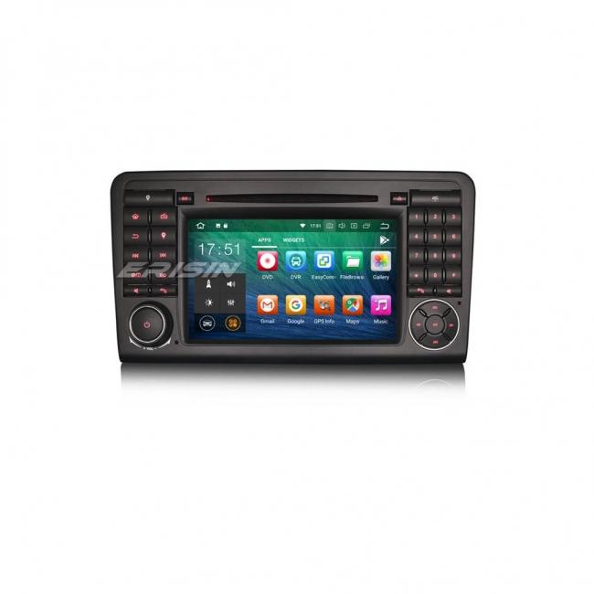 Навигация двоен дин за Mercedees ML, GL с Android 8.0 ES7883L, GPS, WiFi, 7 инча