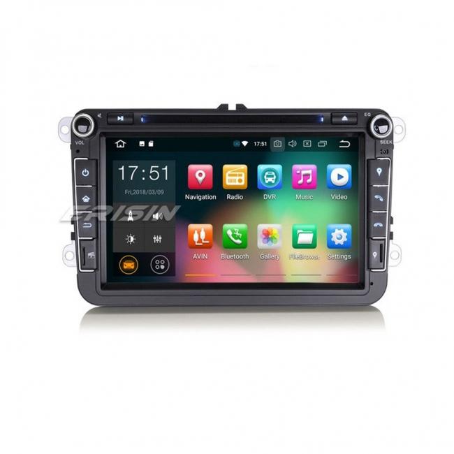 Навигация двоен дин за VW с Android 8.0 ES7848V, GPS, WiFi, 7 инча