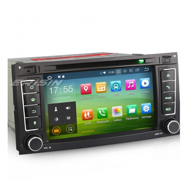Навигация двоен дин за VW TOUAREG ES7856T, GPS, WiFi, 7 инча