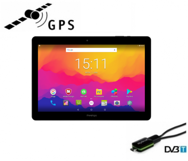 5в1 навигация таблет PRESTIGIO Wize 3171 3G, 10.1 инча, SIM, Android 7, 1GB RAM, ТЕЛЕВИЗИЯ