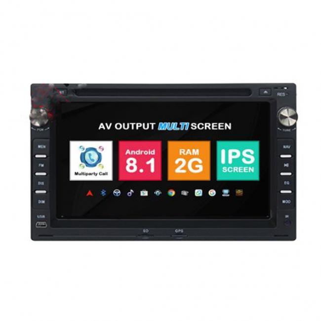 Навигация двоен дин VW GOLF PASSAT SHARAN с Android 8.1 VW0701A81, GPS, WiFi, DVD, 7 инча