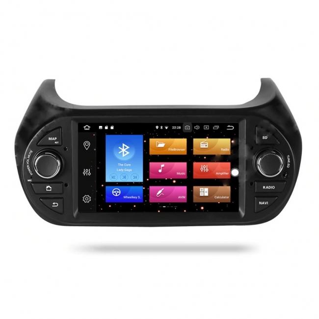 Навигация двоен дин Fiat Florino Qubo с Android 8.1 FT0708A81, GPS, WiFi, DVD, 7 инча