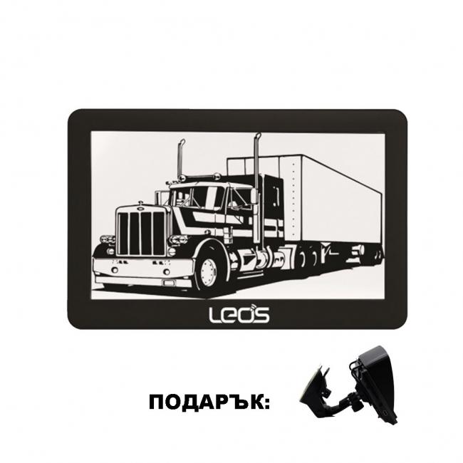 Двуядрена навигация за камиони LEOS TRUCK MATE 5 инча, 256MB, Сенник