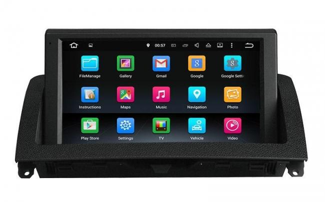Навигация двоен дин Mercedes C klass W204 с Android 7.1 MKD-M893, GPS, WiFi, DVD, 7 инча