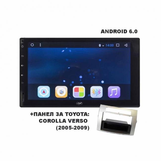 "Навигация за TOYOTA COROLLA VERSO PNI8020 с Android WiFi, GPS, 7"" + ПАНЕЛ"