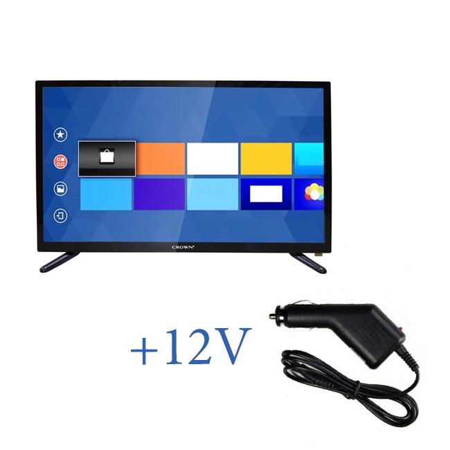 Портативен телевизор с цифров тунер Crown 2433T2 - 24 инчa 12-220V