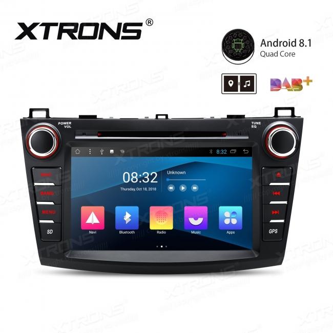 Навигация двоен дин за Mazda 3 (10-13) с Andoid 8.1 PC88M3M, GPS, WiFi, 8 инча