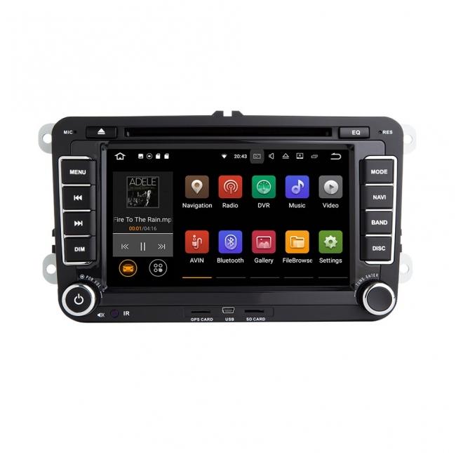 Навигация двоен дин VW SEAT SKODA с Android 9.0 VW0702A9, GPS, WiFi, DVD, 7 инча