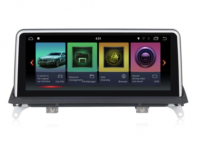 Навигация за BMW E70 E71 CIC  H1011BM с Android 7.1 GPS, WiFi, 10.25 инча