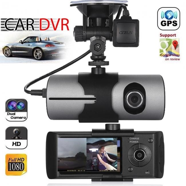 Видеорегистратор - DVR две камери AT x3000 с GPS + 16GB карта