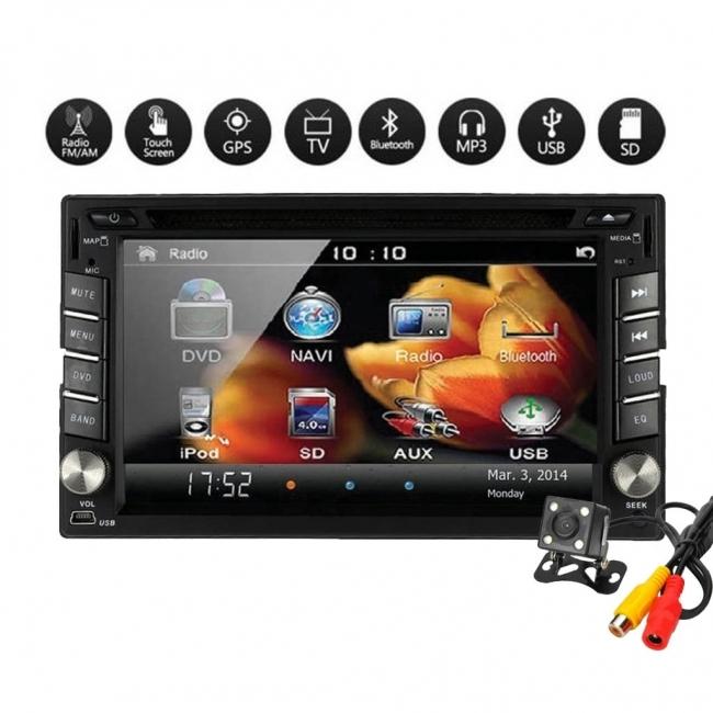 Универсална мултимедия Double Din 6516, DVD, GPS, TV за кола GPS + цифрова тв + камера