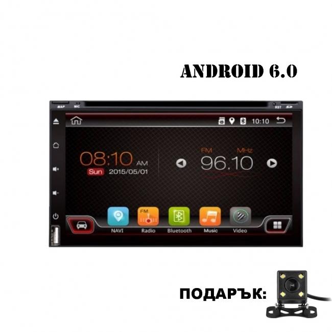 Универсална мултимедия двоен дин AT UA69DVD GPS, WiFi, Android, 6.9 инча