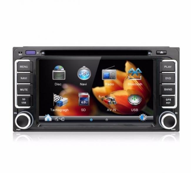 Мултимедия двоен дин за Toyota  TOYOTAWIN WinCE, GPS, DVD, 6.2 инча
