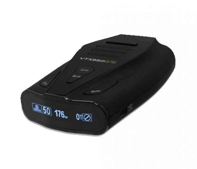 Радар и лазерен детектор с инсталирана GPS база данни KIYO VTX950GPS