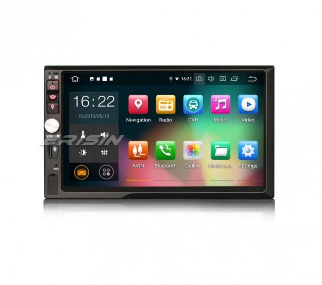 Универсален двоен дин ES7942U с Android 9.0, GPS, Осем ядрен процесор, 7 инча