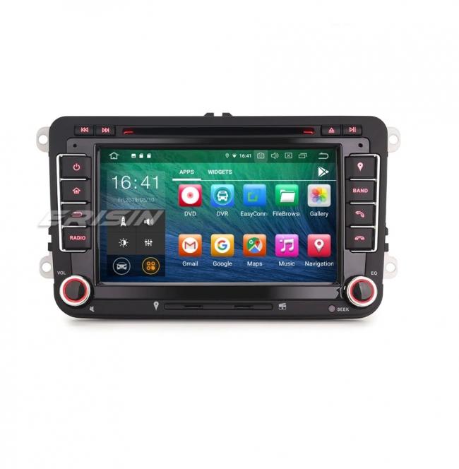 Навигация двоен дин VW, Seat, Skoda ES7948V с Android 9.0, WiFi, GPS, 7 инча
