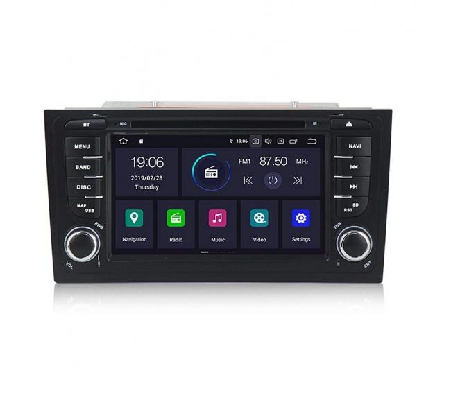 Навигация двоен дин за AUDI A6 (99-04) с Android 9.0 А7871H GPS, WiFi,DVD, 7 инча